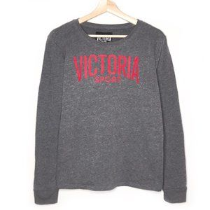Victoria Sport Gray Long Sleeve Crew Sweatshirt